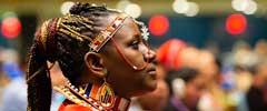 Deltagare från masaifolket i FN 18:e Permanenta Forum för Ursprungsfolkens frågor